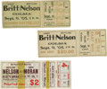 Boxing Collectibles:Memorabilia, 1900's-10's Battling Nelson Fight Tickets Lot Of 3. Battling Nelson, The Durable Dane, began his professional boxing career...
