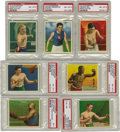 """Boxing Cards:General, 1910 T218 Hassan and Mecca """"Champion Athletes and Prize Fighters""""High-Grade Partial Set (99/153). This completely graded p...(Total: 99 )"""