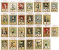 Boxing Cards:General, 1911 T9 Turkey Red Prizefighters Complete PSA-Graded Set (26). TheTurkey Red boxing series of 26 was issued in conjunction... (Total:26 )