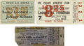 Boxing Collectibles:Memorabilia, 1910's-20's Benny Leonard Fight Ticket Lot Of 3. Offered here are three rare tickets to fights featuring the great Jewish Li...