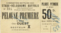 Boxing Collectibles:Memorabilia, 1922 Carpentier vs. Siki Full Ticket. On September 24, 1922 World Light Heavyweight Champion Georges Carpentier defended hi...