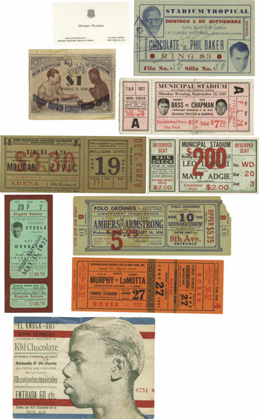 1920's-50's Significant Boxing Ticket Lot  A fine group of fight