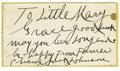 Boxing Collectibles:Autographs, 1930's Jack Johnson Signed Blank Business Card. His tremendousboxing abilities and preference for white women almost cost ...
