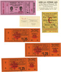 Boxing Collectibles:Memorabilia, 1950's-60's Boxing Tickets Lot. An interesting boxing ticket lot which includes a business card of Rocky Marciano (EX), a f...