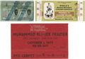 Boxing Collectibles:Memorabilia, 1960's-70's Muhammad Ali/Cassius Clay Fight Tickets Lot Of 3. Here is a fantastic lot including three of Muhammad Ali's mos...