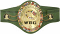 Boxing Collectibles:Memorabilia, WBC World Heavyweight Championship Boxing Belt Awarded to Joe Frazier. Arguably the ultimate prize in the field of athletic...