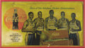 Basketball Collectibles:Others, 1954 Harlem Globetrotters Advertising Signs Lot of 2. Highlydesirable pair of signs remembers the glory days of this barns...(Total: 2 Items)