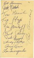 Basketball Collectibles:Others, 1956-57 Boston Celtics Team Signed Government Postcard. The mightyCeltics would deliver the first of sixteen NBA titles to...