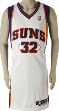 Basketball Collectibles:Uniforms, 2003-04 Amare Stoudemire Game Worn Uniform. Only twenty-one yearsold when he suited up in this home white Phoenix Suns uni...