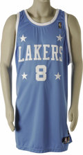 Basketball Collectibles:Uniforms, 2004-05 Kobe Bryant Game Worn Throwback Jersey. Kobe notched hisfourth triple-double of the season on December 17, 2004, t...