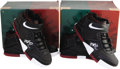 Basketball Collectibles:Others, LeBron James Signed UDA Sneakers Lot of 2. Just like the shoes wornon the court by King James, these personal model size f... (Total:3 )