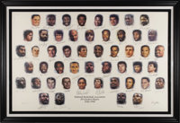 National Basketball Association 50 Greatest Players Signed Lithograph from Sam Jones. Unquestionably the most coveted si...