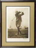 Golf Collectibles:Autographs, 1930's Harry Vardon Signed Oversized Photograph. Blurring the linesbetween fine art and sports collectibles is this mesmer...