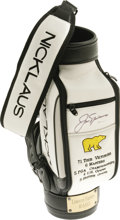 Golf Collectibles:Autographs, Jack Nicklaus UDA Signed Miniature Golf Bag. For the golfenthusiast who has everything, we present this minaturizedreplic...
