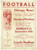 Football Collectibles:Others, 1926 Chicago Bears Broadside with Red Grange. The Galloping Ghost is featured in this exceedingly rare broadside hyping a f...