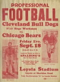 Football Collectibles:Others, 1931 Chicago Bears Broadside with Grange & Nagurski. The appearance of Red and Bronko on this remarkable broadside printed ...