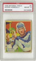 Football Cards:Singles (Pre-1950), 1935 National Chicle George Kenneally #3 PSA NM-MT 8. If you'researching for a finer example of Kenneally's Chicle card, y...