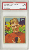 """Football Cards:Singles (Pre-1950), 1935 National Chicle Pug Rentner #6 PSA NM 7. Another """"rookie"""" cardfrom the first great football set, as Ernest Rentner ca..."""