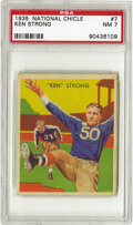 "Football Cards:Singles (Pre-1950), 1935 National Chicle Ken Strong #7 PSA NM 7. His seventeen pointsto lead the New York Giants to victory in the famous ""Sne..."