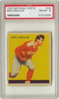 """Football Cards:Singles (Pre-1950), 1935 National Chicle Mike Mikulak #18 PSA NM-MT 8. A rookie cardfor """"Iron Mike,"""" the All-American fullback out of the Univ..."""