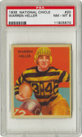 Football Cards:Singles (Pre-1950), 1935 National Chicle Warren Heller #20 PSA NM-MT 8. The fantasticblack and yellow styling of the Pittsburgh Pirates unifor...