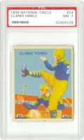 Football Cards:Singles (Pre-1950), 1935 National Chicle Clarke Hinkle #24 PSA NM 7. When he retired in1941, Hinkle was the League's all-time leading rusher, ...