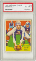 Football Cards:Singles (Pre-1950), 1935 National Chicle John Isola #26 PSA NM-MT 8. Magnificent colorand registration joins fine centering and sharp corners ...