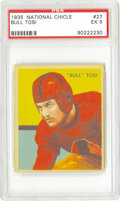 "Football Cards:Singles (Pre-1950), 1935 National Chicle Bull Tosi #27 PSA EX 5. The scarcest card inthe Chicle set pictures Italian gridiron star Flavio ""Bul..."