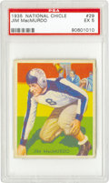 "Football Cards:Singles (Pre-1950), 1935 National Chicle Jim MacMurdo #29 PSA EX 5. ""Big Jim"" was oneof the Philadelphia Eagles' most devastating tacklers in ..."