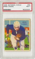 Football Cards:Singles (Pre-1950), 1935 National Chicle Ernie Caddel #30 PSA NM 7. The Detroit Lionshalfback runs for daylight, leaving a fallen Pittsburgh P...