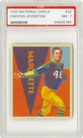 "Football Cards:Singles (Pre-1950), 1935 National Chicle Chester Johnston #32 PSA NM 7. Known to hisfriends as ""Swede,"" this Green Bay Packers standout was a ..."
