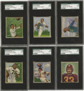 Football Cards:Sets, 1950 Bowman Football Complete Set with Autographs (144). The first color football set. These cards were issued to the coll...