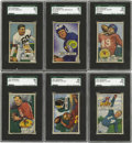 Football Cards:Sets, 1951 Bowman Football Complete Set (144). Issued both in six-card nickel packs and single-card penny packs, this issue exper...
