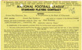 Football Collectibles:Others, 1956 Paul Hornung Rookie Standard Players Contract. Few documents could carry more significance to fans of the Green Bay Pa...