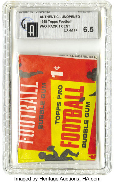 1958 Topps Football One Cent Wax Pack Gai Ex Mt 65 Does