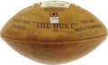 "Football Collectibles:Balls, 1963 Green Bay Packers Team Signed Football. ""Winning isn't everything, it's the only thing,"" once claimed Hall of Fame coa..."