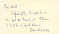 Football Collectibles:Others, 1960's Dan Reeves Handwritten Signed Note. Proving himself to be a true sporting visionary, this Hall of Fame executive mov...