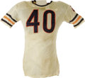 Football Collectibles:Uniforms, Mid to Late 1960's Gale Sayers Game Worn Jersey. Like the winds that share his first name, Gale Sayers appeared on the scen...