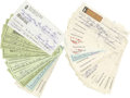 Football Collectibles:Others, 1970's-90's Sammy Baugh Signed Checks Lot of 50. While he didn't invent the forward pass, Baugh certainly popularized it to...
