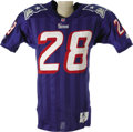 Football Collectibles:Uniforms, 1995 Curtis Martin Game Worn Rookie Jersey. Curtis Martin has quietly become one of the NFL's all time great backs, but aft...
