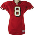 Football Collectibles:Uniforms, 1998 Steve Young Game Worn Jersey. This representation from late in Steve Young's career is his San Francisco 49'ers home g...