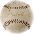 Autographs:Baseballs, 1927 New York Yankees Team Signed Baseball. Make that dream areality and own a team ball from the finest squad ever to tak...