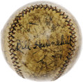 "Autographs:Baseballs, 1927 Philadelphia Athletics Team Signed Baseball. Ancient OAL(Johnson) horsehide bears the inscribed date ""6/16/27,"" leavi..."