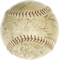 Autographs:Baseballs, 1920's Hall of Famers Multi-Signed Baseball with Ruth, Cobb, Johnson. Though the All-Star game officially debuted in 1933, ...
