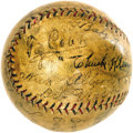 "Autographs:Baseballs, 1920's Multi-Signed Baseball with Ruth, Cobb, Johnson, Shocker& More. From a descendant of pitcher George ""Hooks"" Dauss, w..."