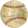 Autographs:Baseballs, 1928 Philadelphia Athletics Team Signed Baseball. While theback-to-back World Championship seasons were still a year away ...