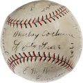 Autographs:Baseballs, 1929 Philadelphia Athletics Team Signed Baseball. Leaving even Ruth, Gehrig and the rest of the mighty Yanks in the dust th...