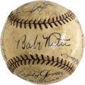 Autographs:Baseballs, 1920's-30's New York Yankees & St. Louis Cardinals SignedBaseball with Ruth, Gehrig. Tremendous signature quality andtour...