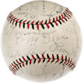 Autographs:Baseballs, 1934 St. Louis Cardinals Team Signed Baseball. The grand andglorious Gashouse Gang is well represented on this ONL (Heydle...