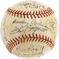 Autographs:Baseballs, 1935 Detroit Tigers Team Signed Baseball. The fifth time was acharm for the Motor City boys, who earned three flags during...